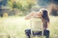 Картинка солнечный свет, Susan Noguera, стул, волосы