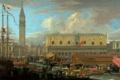Картинка люди, башня, корабли, картина, венеция, дворец дожей, Карлеварис Лука