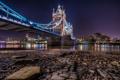 Картинка ночь, англия, лондон, london, night, england, Golden Tower Bridge