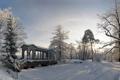 Картинка зима, снег, деревья, парк