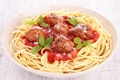 Картинка мясо, спагетти, соус, котлеты, макароны, meat, pasta