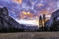Картинка пейзаж, Yosemite National Park, Yosemite Valley Sunset