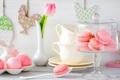 Картинка Пасха, сладкое, тюльпан, крем, праздник, печенье, ваза