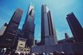 Картинка небо, люди, здания, небоскребы, Чикаго, Chicago