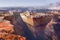Картинка горы, люди, фантастика, каньон, пирамиды, daniel dociu