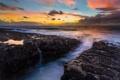 Картинка пейзаж, камни, океан, рассвет, берег, Oregon Coast, Cape Arago State Park