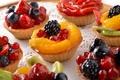 Картинка десерт, пирожные, ягоды