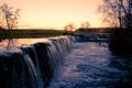Картинка вода, водопад, поток, маленький
