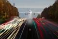 Картинка самолёт, дорога, огни