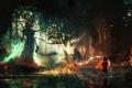 Картинка лес, волшебство, мальчик, чудовище