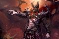 Картинка крылья, доспехи, искры, когти, Демон