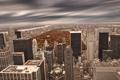 Картинка тучи, парк, Нью-Йорк, небоскребы