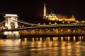Картинка река, Будапешт, ночь, мост, Венгрия, огни