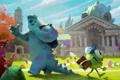 Картинка мультфильм, монстры, студенты, Академия монстров, Monsters University, Inc., Корпорация монстров