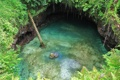 Картинка вода, джунгли, пещера, красотище