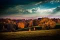 Картинка осень, небо, город