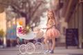 Картинка улица, девочка, коляска