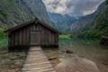 Картинка лес, лето, природа, озеро, хижина