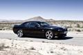Картинка чёрный, пустыня, скорость, Dodge, SRT8, Challenger, black