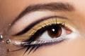 Картинка тени, ресницы, девушка, взгляд, макро, макияж