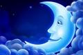 Картинка облака, свет, луна