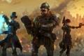 Картинка art, trio, steampunk, шлем, battle, war