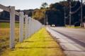 Картинка дорога, трава, забор, ограда