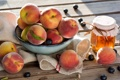Картинка Фрукты, Мед, Honey, Fruit, Sunny peaches, Солнечные персики