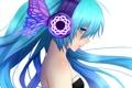 Картинка девушка, бабочка, крылья, наушники, арт, vocaloid, hatsune miku