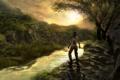 Картинка лес, девушка, лара крофт, tomb_raider