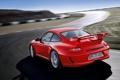 Картинка трасса, движение, поворот, дорога, авто, Porsche 911 GT3, скорость