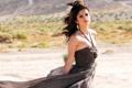 Картинка взгляд, волосы, платье, певица, серьга, знаменитость, Selena Gomez