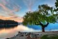 Картинка пейзаж, закат, природа