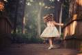 Картинка вращение, платье, девочка