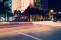 Картинка город, улица, перекресток