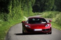 Картинка дорога, трава, деревья, красный, McLaren, тень, red