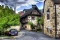 Картинка город, фото, улица, Франция, HDR, дома, Каренак