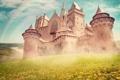 Картинка замок, castle, старинный, дворец, башни, радуга