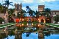 Картинка дом, пруд, пальмы, поместье