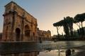 Картинка город, фон, Рома