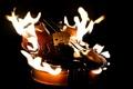 Картинка фон, огонь, скрипка