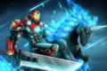 Картинка конь, меч, броня, Iron Man, fan art, tony stark