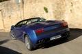 Картинка синий, Lamborghini, суперкар, Gallardo, Spyder, задок, ламборгини