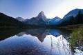 Картинка небо, горы, озеро, отражение