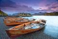 Картинка England, Lake District, озеро, осень, лодки