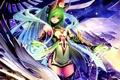 Картинка девушка, крылья, драконы, аниме, арт, рога, tachikawa mushimaro
