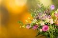 Картинка эустома, бутоны, розы, фон, букет, хризантемы