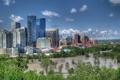 Картинка деревья, здания, Канада, панорама, Canada, Калгари, Calgary