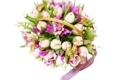 Картинка фото, Цветы, Тюльпаны, Букет, Орхидеи