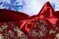 Картинка красный, праздник, новый год, бантик, ленточка, упаковка